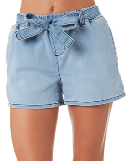 SKY BLUE WOMENS CLOTHING BETTY BASICS SHORTS - BB808S18SKY