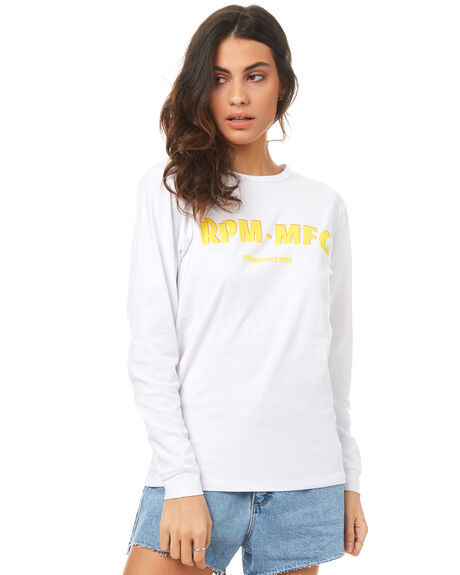 WHITE WOMENS CLOTHING RPM TEES - 7PWT09BWHT