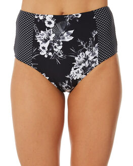 BLACK WOMENS SWIMWEAR SEA LEVEL BY NIPTUCK BIKINI BOTTOMS - SL4010TSBLK