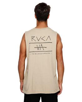 DUST YELLOW MENS CLOTHING RVCA SINGLETS - RV-R191006-DYL