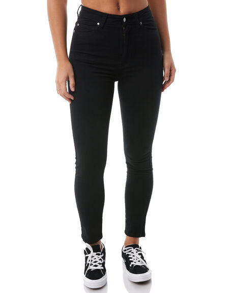BLACK WOMENS CLOTHING DR DENIM JEANS - 1410104101W