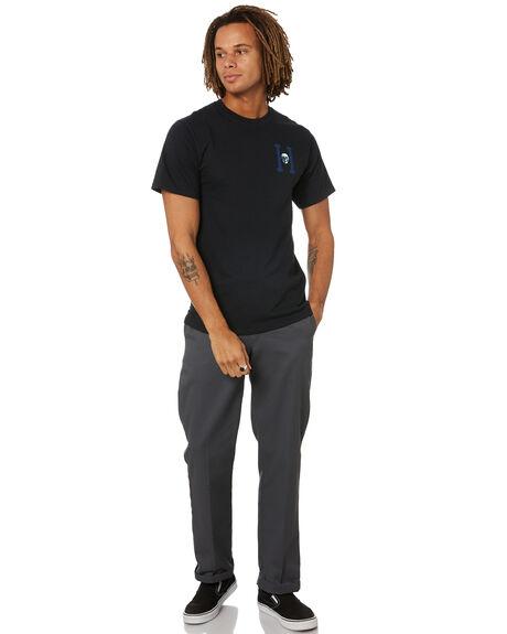 BLACK MENS CLOTHING HUF TEES - TS01346-BLACK