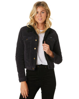 ROLLAS BLACK CORD WOMENS CLOTHING ROLLAS JACKETS - 13014-4549