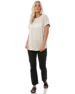 OATMEAL MARLE WOMENS CLOTHING CAMILLA AND MARC TEES - RCMT6716OAT