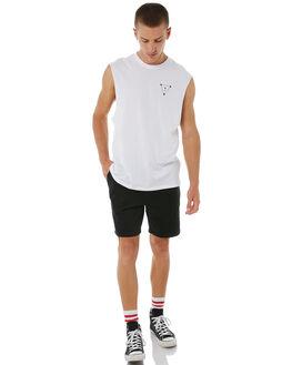 WHITE MENS CLOTHING THRILLS SINGLETS - TA8-105AWHT