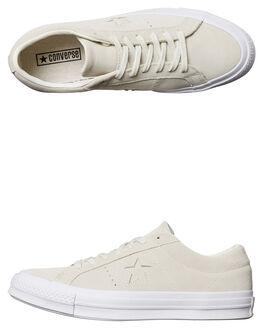 EGRET WHITE WOMENS FOOTWEAR CONVERSE SNEAKERS - 158480EGRET