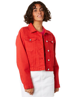 RED WOMENS CLOTHING VOLCOM JACKETS - B1911906RED