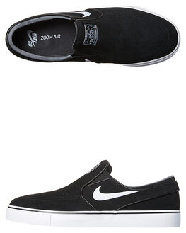 BLACK WHITE MENS FOOTWEAR NIKE SLIP ONS - 833564-001