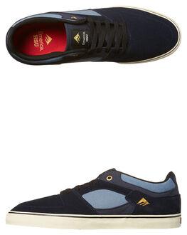 NAVY BLUE MENS FOOTWEAR EMERICA SKATE SHOES - 6102000113-421