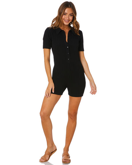 BLACK WOMENS CLOTHING RUE STIIC PLAYSUITS + OVERALLS - SW-20-K-16-B-C_BLK
