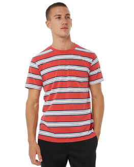 RED OUTLET MENS BRIXTON TEES - 02241RED