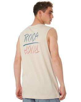 STONE MENS CLOTHING RVCA SINGLETS - R182005STONE