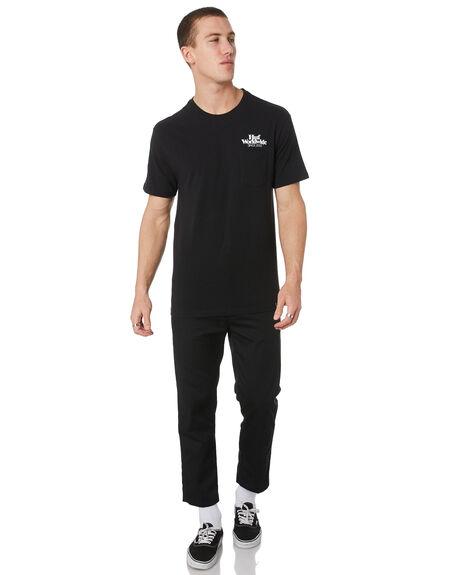 BLACK MENS CLOTHING HUF TEES - TS00710-BLK