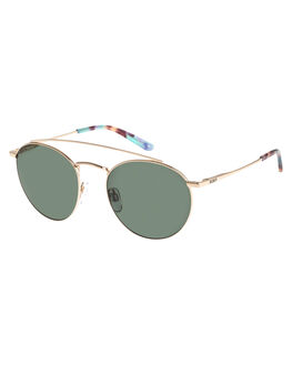 SHINY GOLD GREEN WOMENS ACCESSORIES ROXY SUNGLASSES - ERJEY03067XRRG