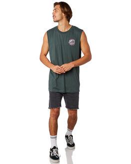 FOREST MENS CLOTHING SANTA CRUZ SINGLETS - SC-MTD8022FORST