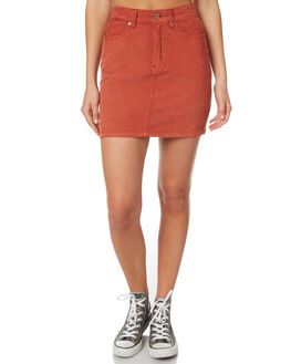 RUST WOMENS CLOTHING AFENDS SKIRTS - 52-03-052RUST