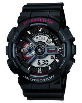 BLACK MENS ACCESSORIES G SHOCK WATCHES - GA110-1ABLK