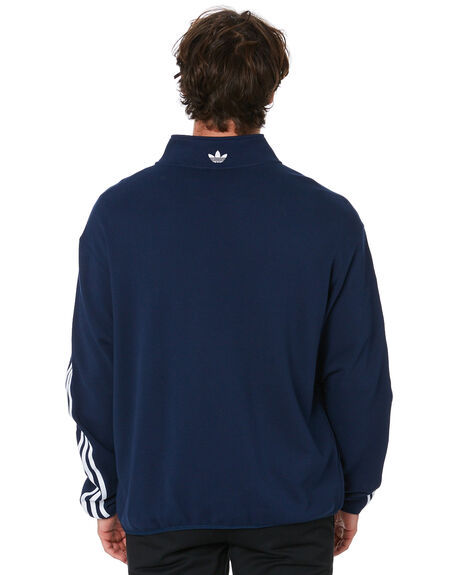 NAVY WHITE MENS CLOTHING ADIDAS JACKETS - GD3538NVYWT