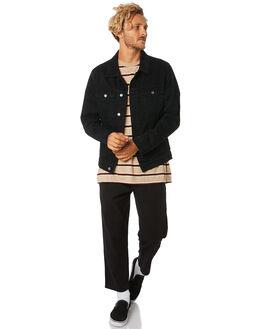 BLACK MENS CLOTHING THRILLS JACKETS - TDP-228BBLK