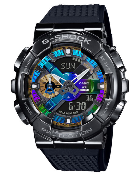 BLACK MULTI MENS ACCESSORIES G SHOCK WATCHES - GM110B-1ABMUL