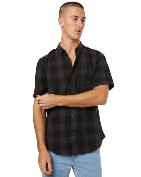 BLACK MENS CLOTHING EZEKIEL SHIRTS - ES172022BLK