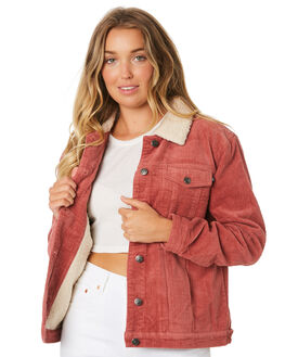 WASHED RED WOMENS CLOTHING RUSTY JACKETS - JKL0370WIR