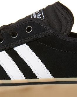 BLACK WHITE GUM MENS FOOTWEAR ADIDAS SKATE SHOES - F37319BKWH