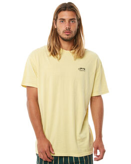 YELLOW MENS CLOTHING STUSSY TEES - ST071000YLLW