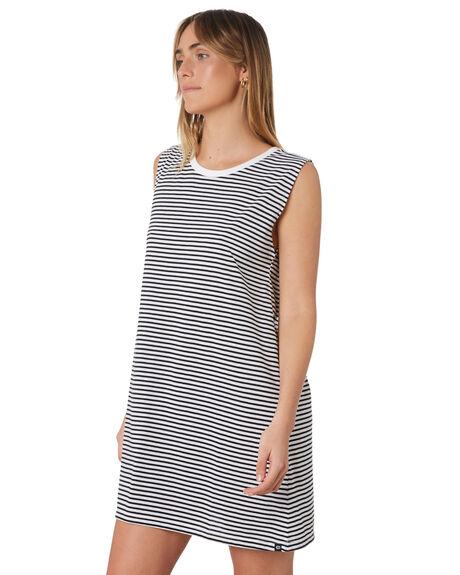 BLACK WHITE WOMENS CLOTHING RIP CURL DRESSES - GDRHT10431