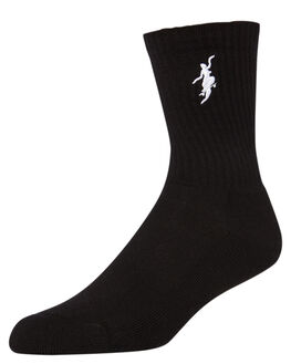 BLACK WHITE MENS CLOTHING POLAR SKATE CO. SOCKS + UNDERWEAR - NOCOMPLY-3942BKWHT