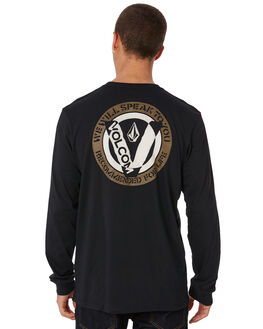 BLACK MENS CLOTHING VOLCOM TEES - A3631870BLK