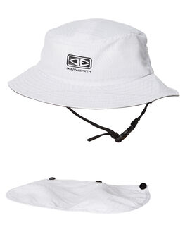 WHITE MENS ACCESSORIES OCEAN AND EARTH HEADWEAR - SMHA02WHI
