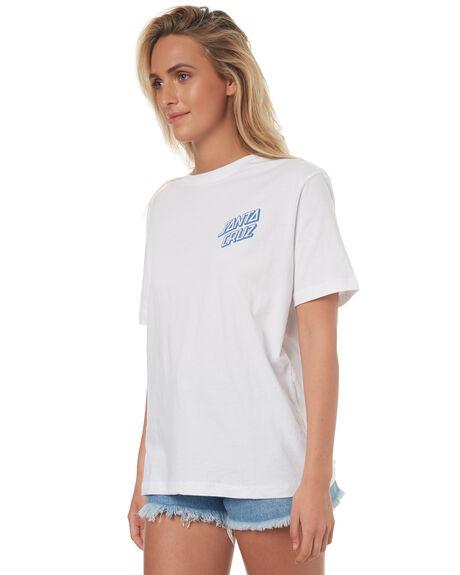 WHITE WOMENS CLOTHING SANTA CRUZ TEES - SC-WTD7493WHT