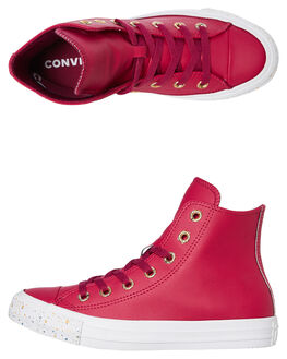 ROSE MAROON WOMENS FOOTWEAR CONVERSE SNEAKERS - 566723CRMRN