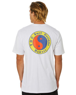 WHITE MENS CLOTHING TOWN AND COUNTRY TEES - TTE111QWHT