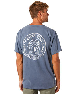 NAVY MENS CLOTHING THE SALTY MERCHANTS TEES - TSM-KIS-NVY