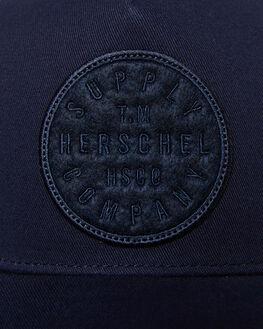 NAVY MENS ACCESSORIES HERSCHEL SUPPLY CO HEADWEAR - 1106-0756-OSNVY