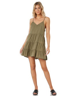 KHAKI WOMENS CLOTHING ALL ABOUT EVE DRESSES - 6424091KHK