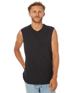 BLACK MENS CLOTHING SWELL SINGLETS - S5164272BLK