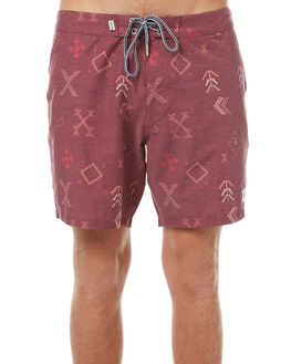 MOROCCAN RED MENS CLOTHING RHYTHM BOARDSHORTS - OCT17M-TR02-RED