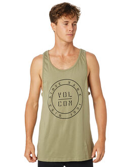 ARMY MENS CLOTHING VOLCOM SINGLETS - A45418G0ARM