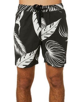 DIRTY BLACK MENS CLOTHING BANKS BOARDSHORTS - BSE0227DBL