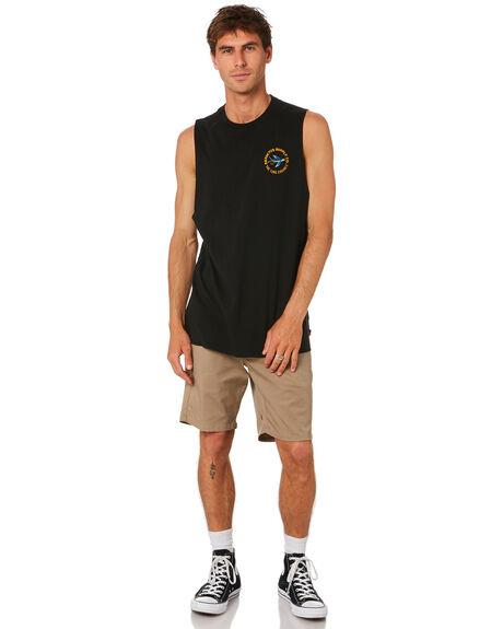 BLACK MENS CLOTHING DEPACTUS SINGLETS - D5212273BLACK