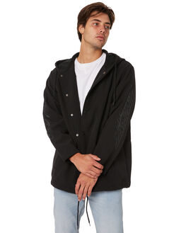 BLACK MENS CLOTHING SANTA CRUZ JACKETS - SC-MJA9132BLK