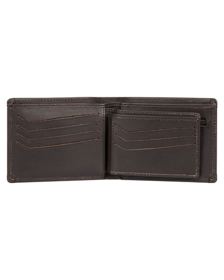 CHOCOLATE BROWN MENS ACCESSORIES QUIKSILVER WALLETS - EQYAA03875-CSD0