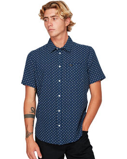 FEDERAL BLUE MENS CLOTHING RVCA SHIRTS - RV-R392181-FEB