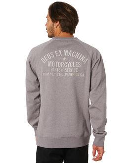 PLUM GREY MARLE MENS CLOTHING DEUS EX MACHINA JUMPERS - DMP98745APLMGY