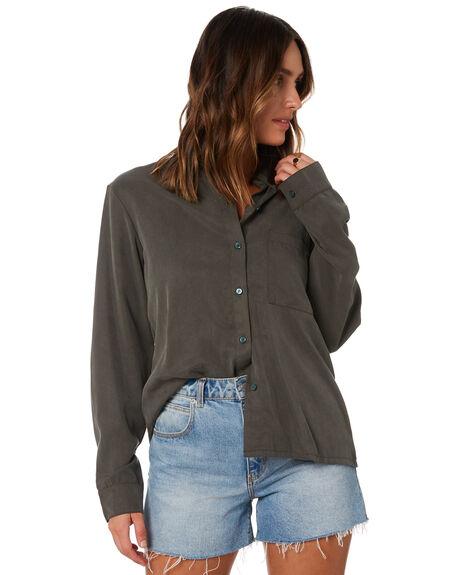 DARK OLIVE WOMENS CLOTHING RUSTY FASHION TOPS - WSL0692-DAO