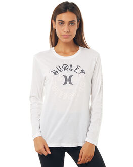 WHITE WOMENS CLOTHING HURLEY TEES - AGTLSGNSWHT