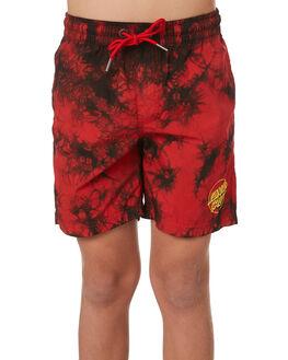 RED TYE DYE KIDS BOYS SANTA CRUZ BOARDSHORTS - SC-YBD9277RDTD